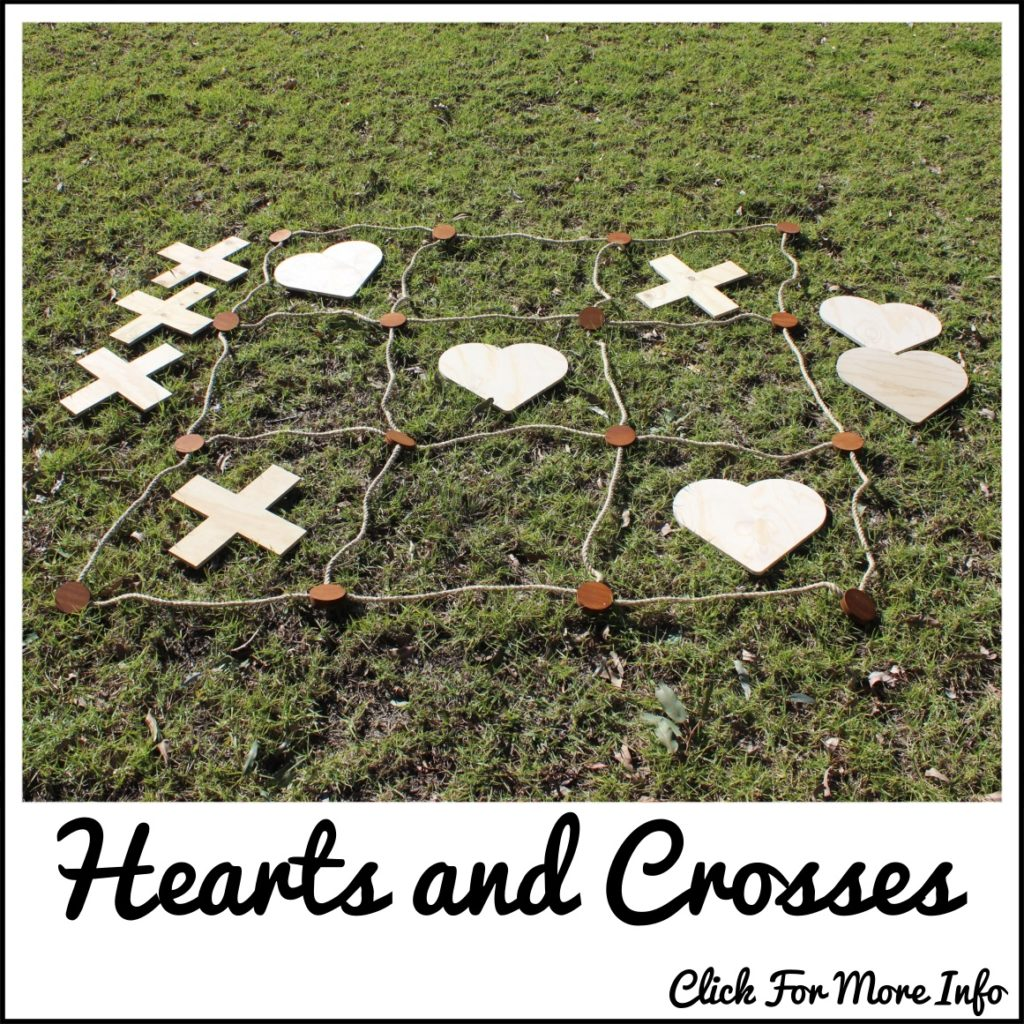 Giant Hearts and Crosses