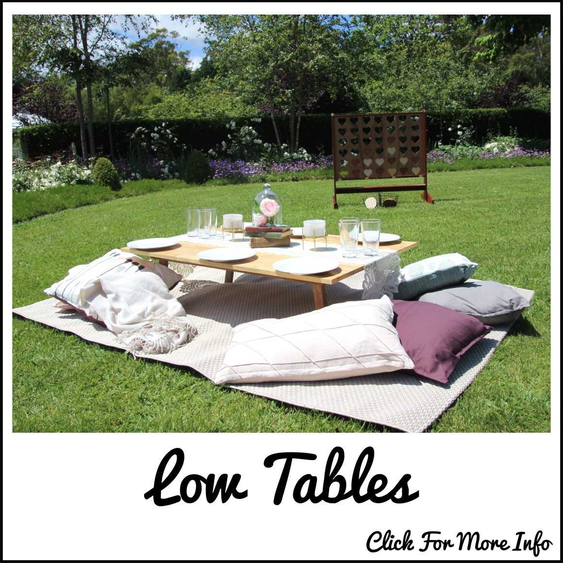 Low table picnic